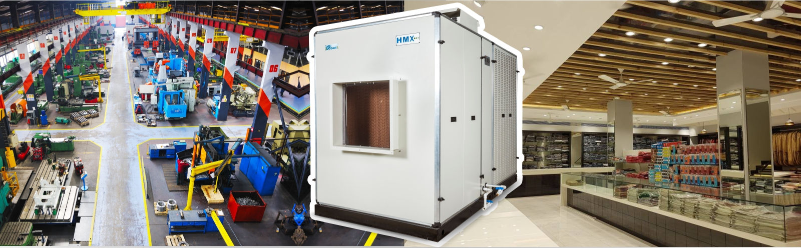 Evaporative Cooling System Suitable for Industrial and Commercial Spaces