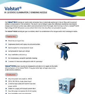 Valstat® Ionising Nozzle and Air Gun