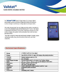 Valence V 205 Static Charge Meter