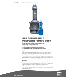 Sulzer (ABS) submersible propeller pump VUPX