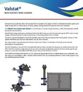 Valstat® Non-Contact Web Cleaner