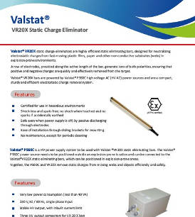 Valstat® VR20X static charge eliminator