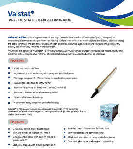 Valstat® VR 20 Active AC Static Charge Eliminator