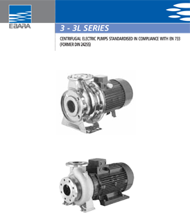 Ebara 3-3L series centrifugal electrical pumps