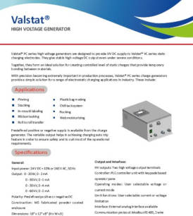 Valstat<sup style='font-size:10px;'>®</sup> High Voltage Generator