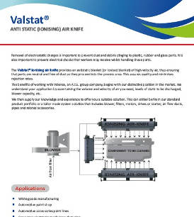 Valstat® Ionising Air Knives