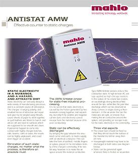 Mahlo Antistat AMW static discharging bars