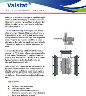 Valstat® Ionising Air Knives