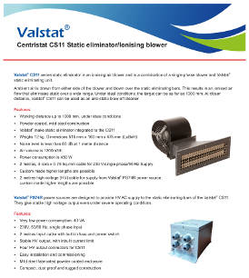 Valstat® ionising blowers and air ionisers