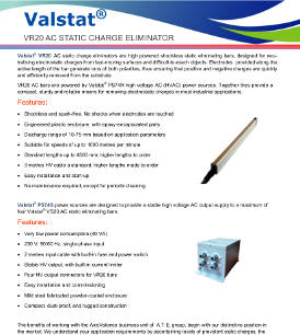 Valstat® VR 20 Active AC Static Charge Eliminator
