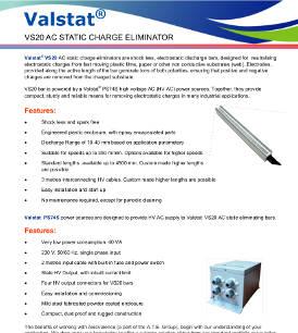 Valstat® VS 20 Active AC Static Eliminator
