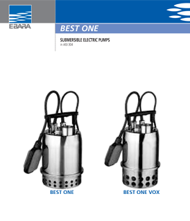 Ebara Best One submersible electrical pumps
