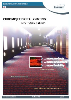 ChromoJET digital printing spot colour 25 dpi