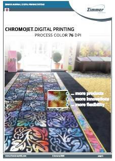 ChromoJET Digital Printing Process Colour 76 dpi