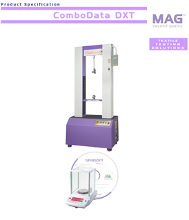Mag Combodata-DXT: computerized lea count / single yarn strength tester