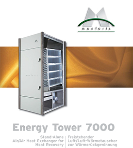 Monforts heat recovery energy tower