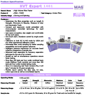 MAG HVT Expert 1401 high volume fibre tester