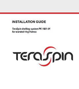 Installation guide - PK 1601-01 series drafting system for worsted ring frames
