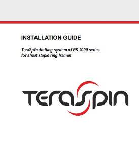 Installation guide - PK 2000 series drafting system for short staple ring frames