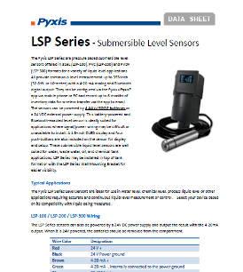 LSP series submersible level sensors