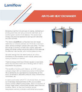 Valence Lamiflow air to air heat exchanger