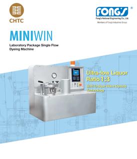 Fong's Miniwin laboratory package single flow dyeing machine