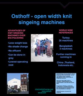 Osthoff Doublejet - Singeing Machine