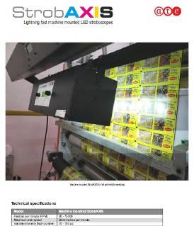 StrobAXIS machine mounted
