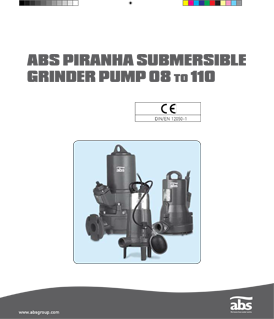Sulzer (ABS) PIRANHA submersible grinder pumps