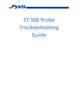 ST-500 probe troubleshooting guide
