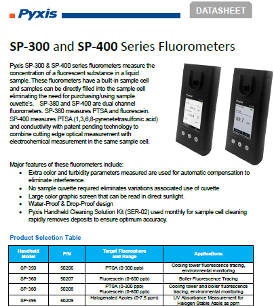SP 300 and SP 400 Series Fluorometers