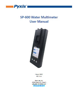 SP-600 Water Multimeter User Manual