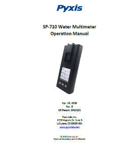 SP-710 Water Multimeter Operation Manual