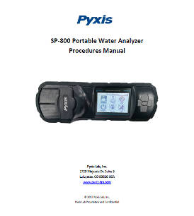 SP-800 portable water analyser procedures manual