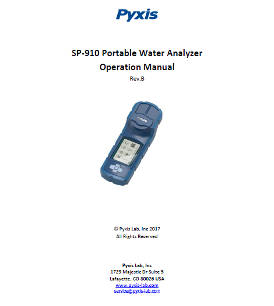 SP-910 portable water analyser operation manual