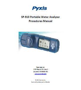 SP-910 Portable Water Analyzer Procedures Manual