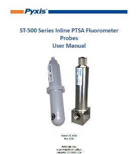 ST-500 Series Inline PTSA Fluorometer Probes User Manual