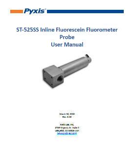 ST-525SS Inline fluorescein fluorometer probe user manual