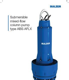 Submersible mixed-flow column pump type ABS AFLX