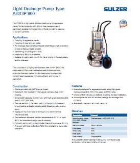 Light Drainage Pump Type ABS IP 900