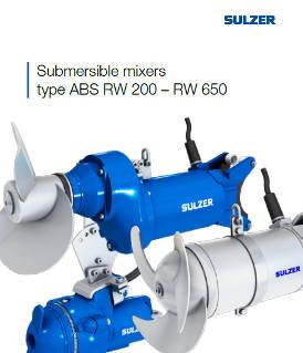Submersible mixers type ABS RW 200 – RW 650
