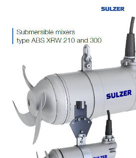 Submersible mixers type ABS XRW 210 and 300