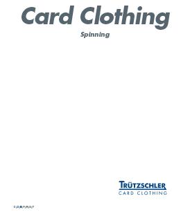 Trutzschler Card Clothing Novotop