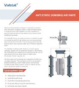 Valence Valstat anti-static ionising air knife