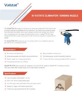 Valence Valstat IN10 ionising nozzle static eliminator