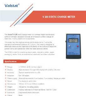 Valence V 300 static charge meter
