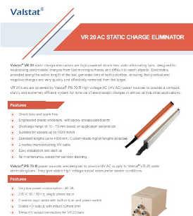 Valence Valstat VR 20 active AC static charge eliminator