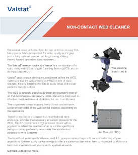 Valence Valstat non-contact web cleaner