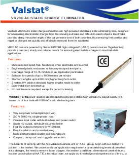 Valstat® VR20 C AC Static Charge Eliminator