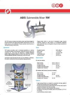 Sulzer (ABS) RW mixers